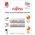 Fujitsu 2000mAh (min.1900mAh) Ni-MH 2pcs AA Rechargeable Batteries Blister Pack (2nd Generation)