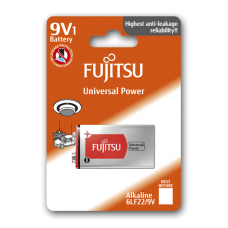 Fujitsu Alkaline Universal Power 9V Battery Blister Pack
