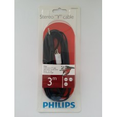 Philips Sterio Y, 3.5mm to 2RCA Audio 3.0m Cable - SWA2520W/10