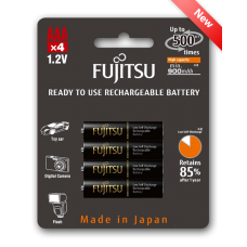 Fujitsu 950mAh (min.900mAh) Ni-MH 4pcs AAA Rechargeable Batteries Blister Pack